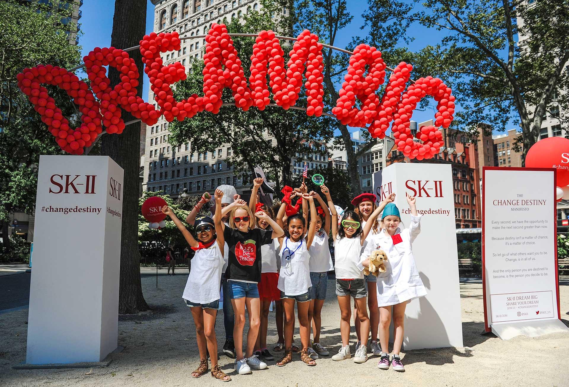 Kids at SK-II Dreams Tree
